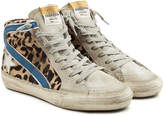 Golden Goose Deluxe Brand Slide High-Top Sneakers with Suede