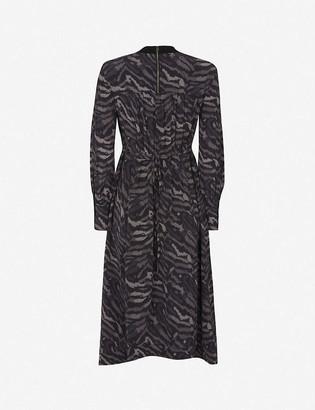 AllSaints Fayre remix-print crepe midi dress