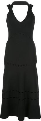 Alexis Betti halter neck midi dress