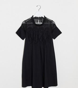 Y.A.S Tall Jarita short sleeve smock dress