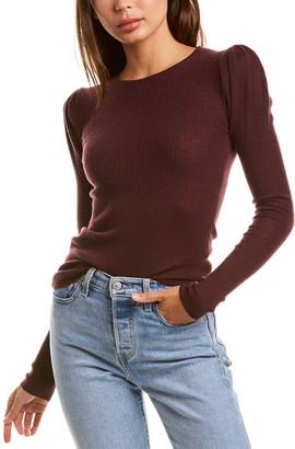 Autumn Cashmere Rib Puff Cashmere Sweater