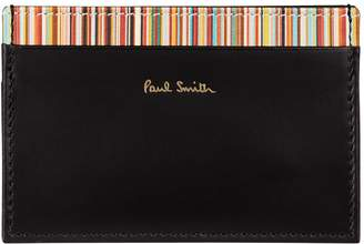 Paul Smith Stripe Leather Card Holder