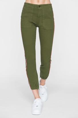Wildfox Couture Cargo Side Stripe Crop Joggers