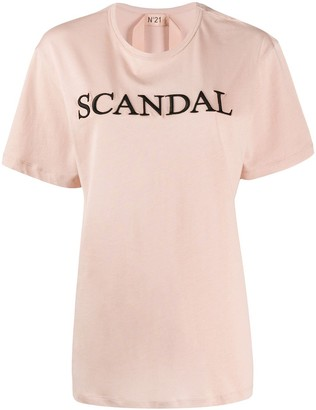 No.21 Scandal embroidered T-shirt