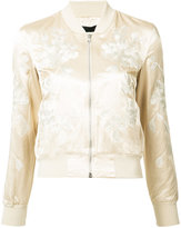 3x1 floral embroidery bomber jacket