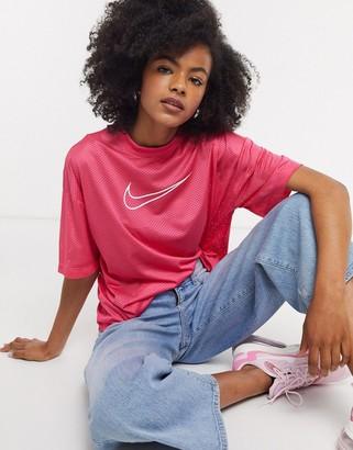 Nike mesh t-shirt in pink