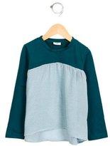 Fendi Girls' Zucca Long Sleeve Top