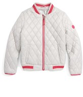 Michael Kors Girl's Quilted Bomber Jacket