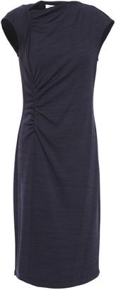 Halston Ruched Melange Jersey Dress