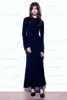 For Love and Lemons Zenith Maxi Dress in Black