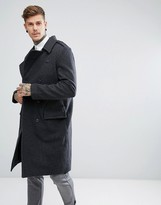 Weekday Major Military Overcoat Wool Double Breasted Belted