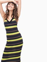Splendid Jungle Stripe V-Neck Dress