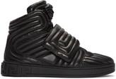 Versace Black Quilted Medusa High-Top Sneakers
