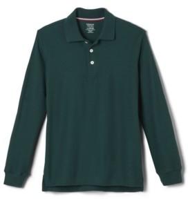 French Toast Little Boys Long Sleeve Pique Polo Shirt