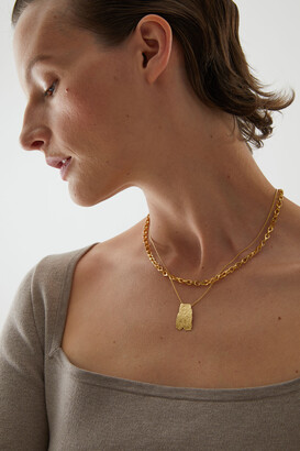 Cos 18kt Gold-Plated Short Textured Necklace