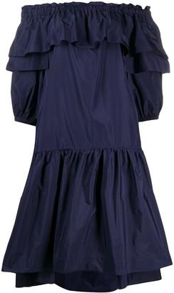 P.A.R.O.S.H. off the shoulder shift dress