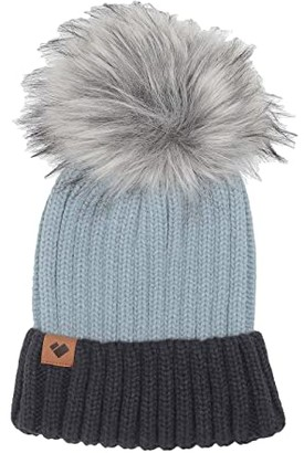 Obermeyer Denver Faux Fur Pom Hat (Ice Ice Baby) Beanies