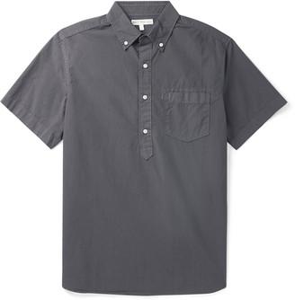 Alex Mill Button-Down Collar Cotton Half-Placket Shirt - Men - Black