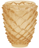Lalique Gold Luster Agave Vase