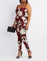 Charlotte Russe Plus Size Floral Sweetheart Jumpsuit