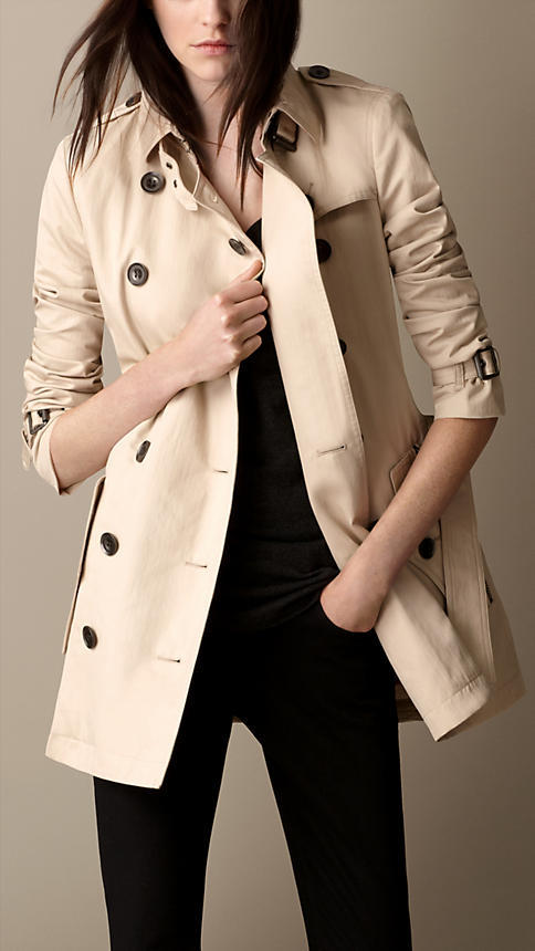 Burberry Detachable Warmer Cotton Trench Coat