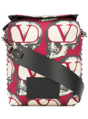 Valentino x Undercover skull-print messenger bag