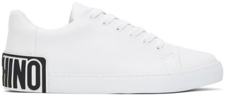 Moschino White Heel Logo Sneakers