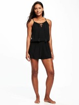 Old Navy Relaxed Lace-Up Romper for Women