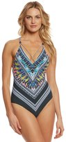 Red Carter Feather Warrior Strappy One Piece Swimsuit 8156675