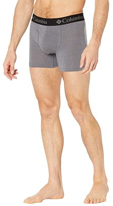 Columbia Repreve Boxer Briefs 3-Pack Grey/City Grey/Black) Men's Underwear