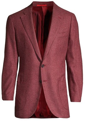 Isaia Textured Wool Sportcoat