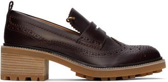 Chloé Purple Franne Loafers