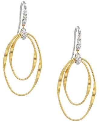 Marco Bicego Marrakech Onde 18K Yellow Gold & Diamond Coil Drop Earrings