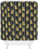 Deny Designs Wonder Forest Dark Pineapple Express Shower Curtain
