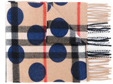 Burberry dotted scarf - kids - Cashmere - One Size