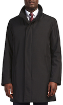 Bugatti 94cm Funnel Neck Water-repellent Raincoat, Black