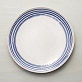 Crate & Barrel Lina Blue Stripe Dinner Plate