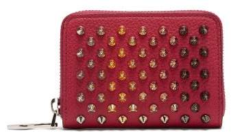 Christian Louboutin Panettone Zip Around Leather Coin Purse - Womens - Pink Multi