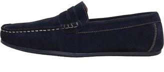 Onfire Mens Suede Loafer Shoes Navy