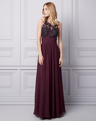 Le Château Sequin Lace & Chiffon Illusion Gown
