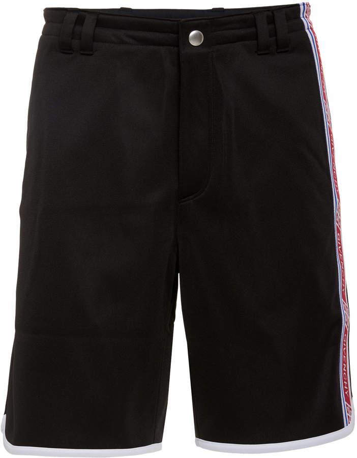 Givenchy Logo-Trimmed Satin-Jersey Shorts