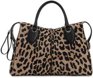 Tod's Any Leopard Printed Ponyskin Bag