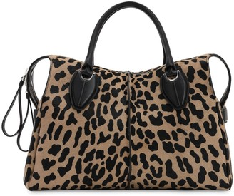 Tod's ANY LEOPARD PRINTED PONYSKIN BAG