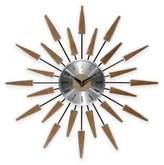 Infinity Instruments Mid-Century Modern Vintage Wall Clock