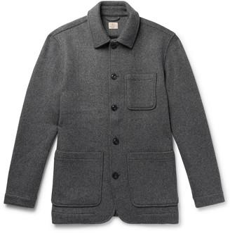 Faherty Melange Wool-blend Chore Jacket - Gray