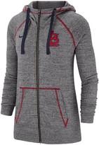 Nike Women's Gray St. Louis Cardinals Gym Vintage Team Full-Zip Hoodie