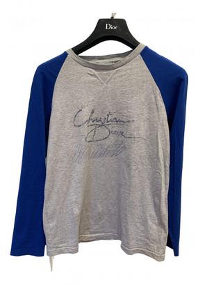 Christian Dior Grey Cotton Tops