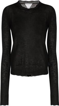 Bottega Veneta Fine-Knit Buttoned Jumper