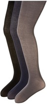 Jefferies Socks Pima Cotton Tights 3-Pair Pack (Infant/Toddler/Little Kid/Big Kid)