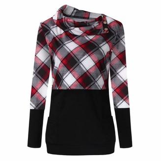 Youu   Long Sleeve YOUU Women's Maternity Nursing Hoodie Casual Top Breastfeeding Sweatshirt Red
